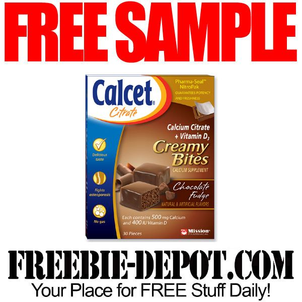 FREE SAMPLE – Calcet Citrate Creamy Bites – FREE Calcium Supplements Sample  #freesample