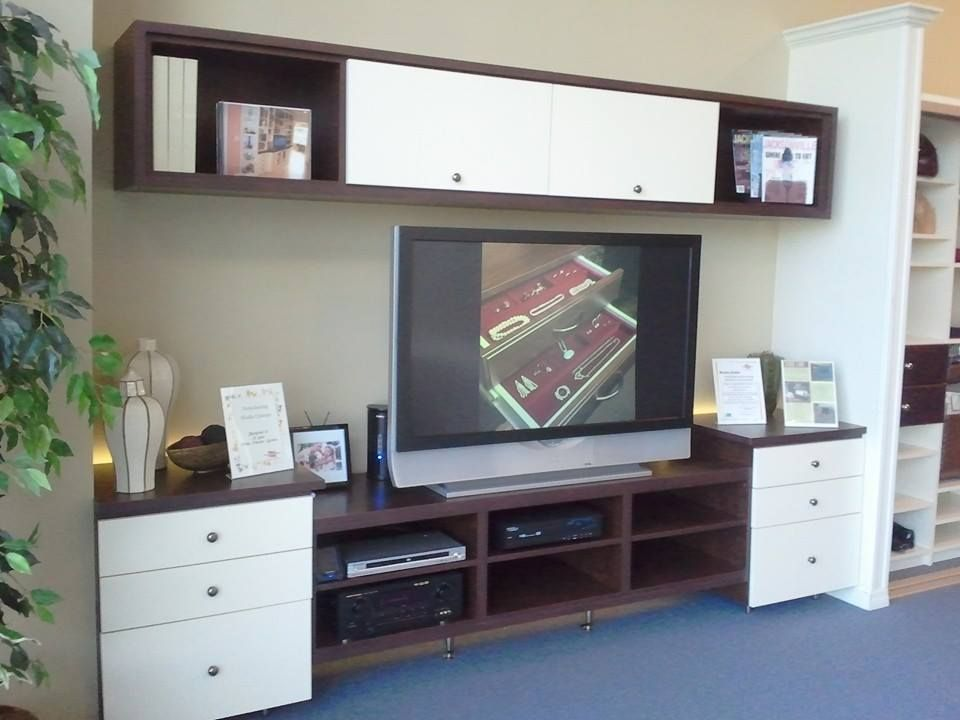 Modern media center angle Media and Entertainment Centers