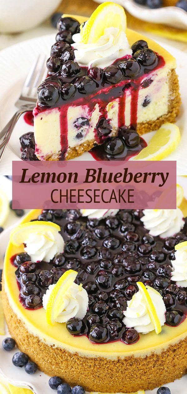 Lemon Blueberry Cheesecake | Best Homemade Cheesecake Recipe