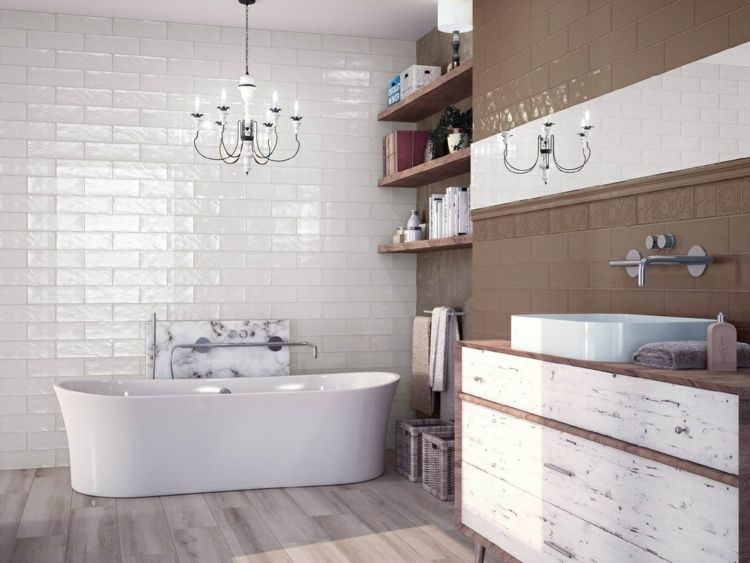 Wall Cover Metro Tiles Laid In Bathroom Kitchen Color Ideas For Authentic Looks New Decor Wall Metro Ti Kitchen Wall Tiles Bathroom Design Subway Tile