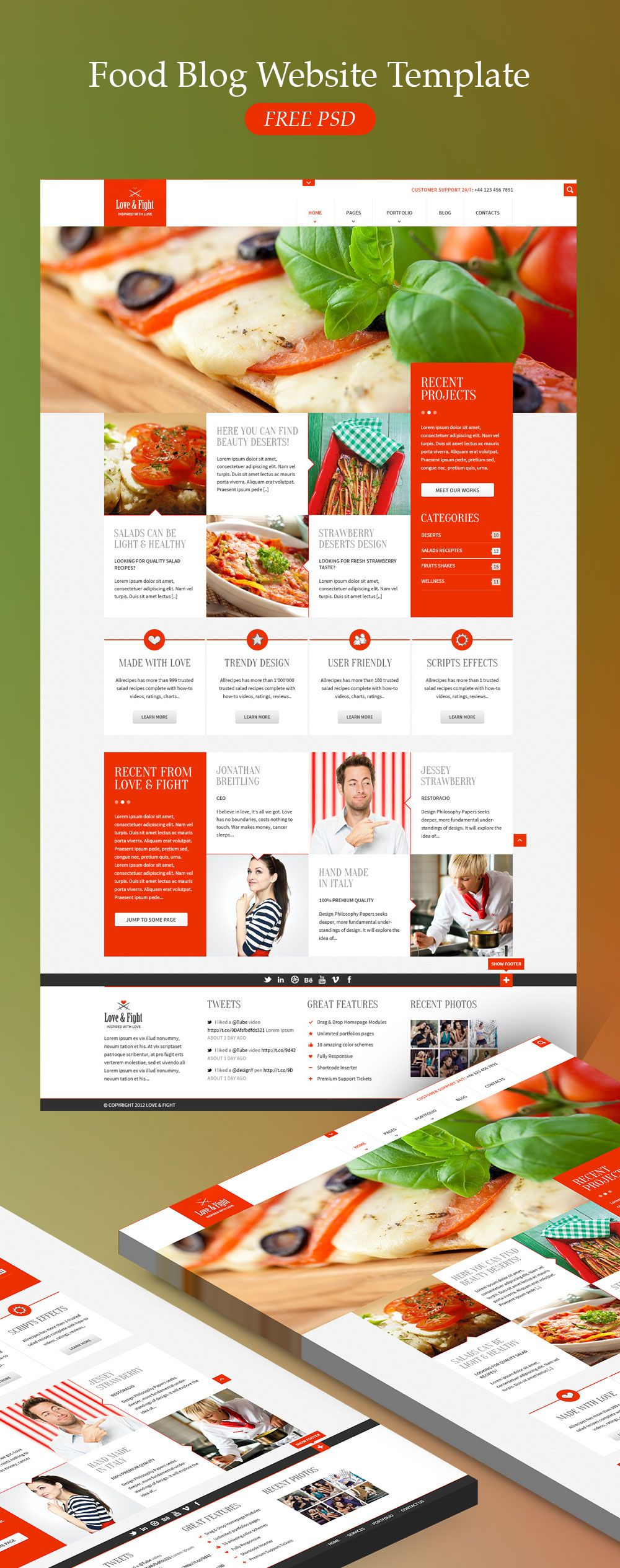 Pdownload food blog website template free psd this psd template is pdownload food blog website template free psd this psd template is exclusively forumfinder Gallery