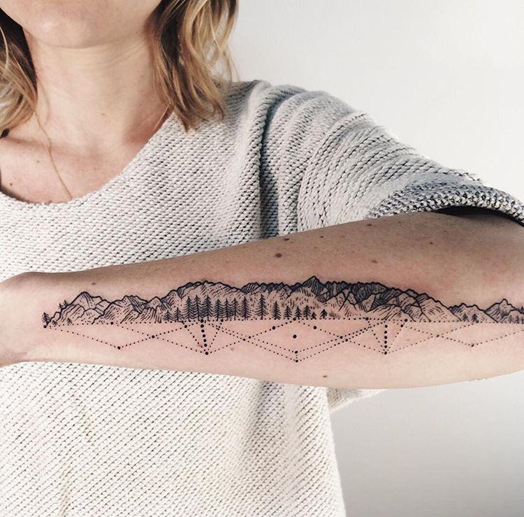 44++ Awesome Mountain range tattoo forearm ideas
