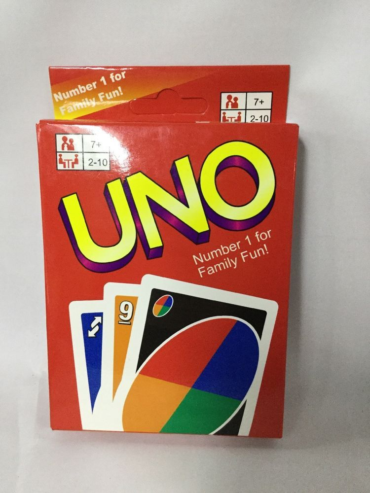 Uno Card Game Original Great Color And Number Game For Kids Ebay Uno Card Game Card Games Number Games For Kids