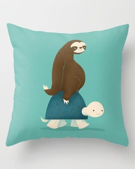 Slow Ride Throw Pillow for fast and wild gifts. More throw pillows at www.printedgift.net