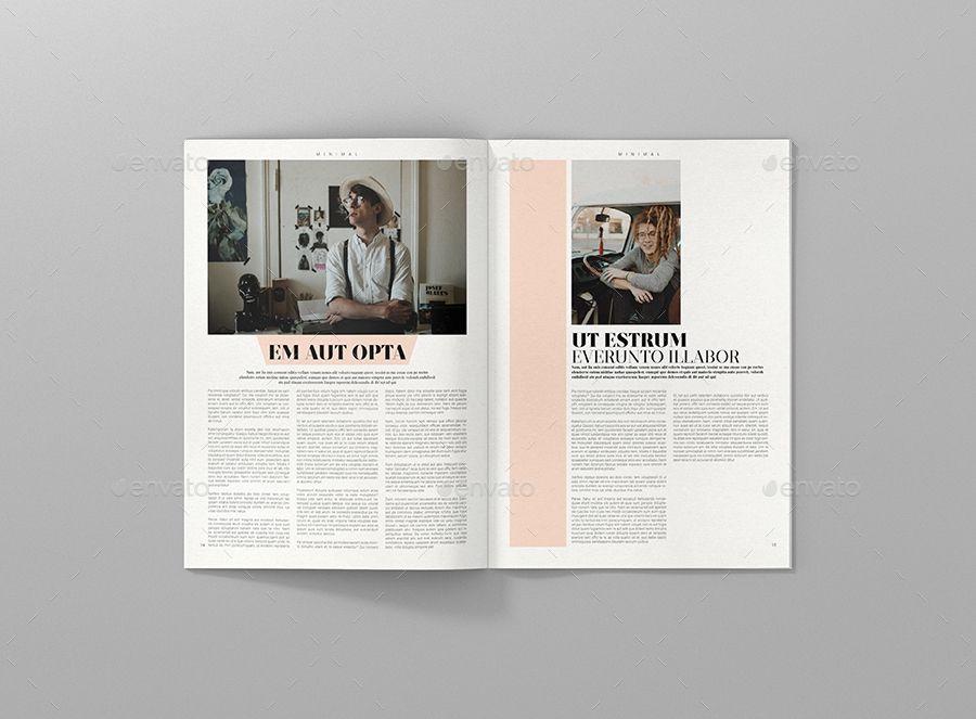 Minimal Magazine Template by aykutkorkut | GraphicRiver