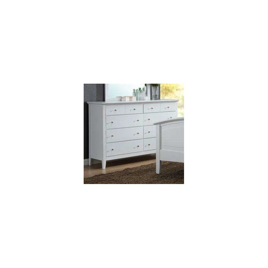 Taube 8 Drawer Double Dresser White Dresser Dresser Drawers