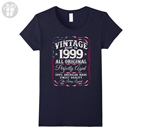 Made in 18th Birthday Present Gift New Retro Ladies T-shirt  1999