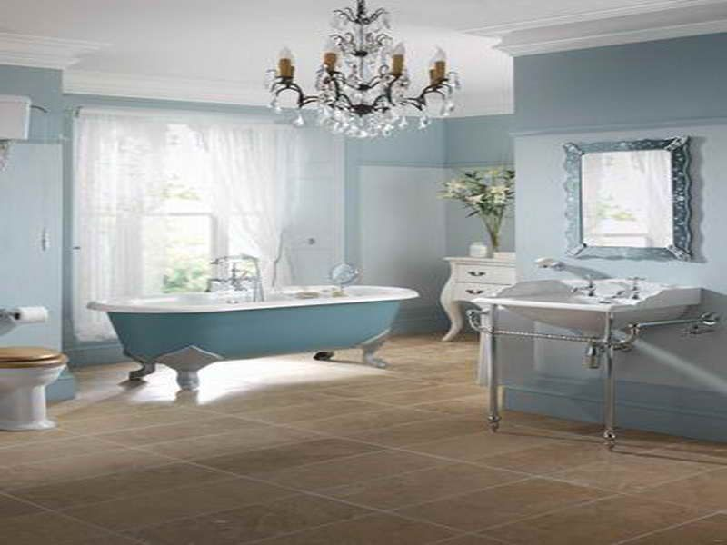 Victorian Bathrooms | Victorian Bathroom Design Ideas With Blue Color