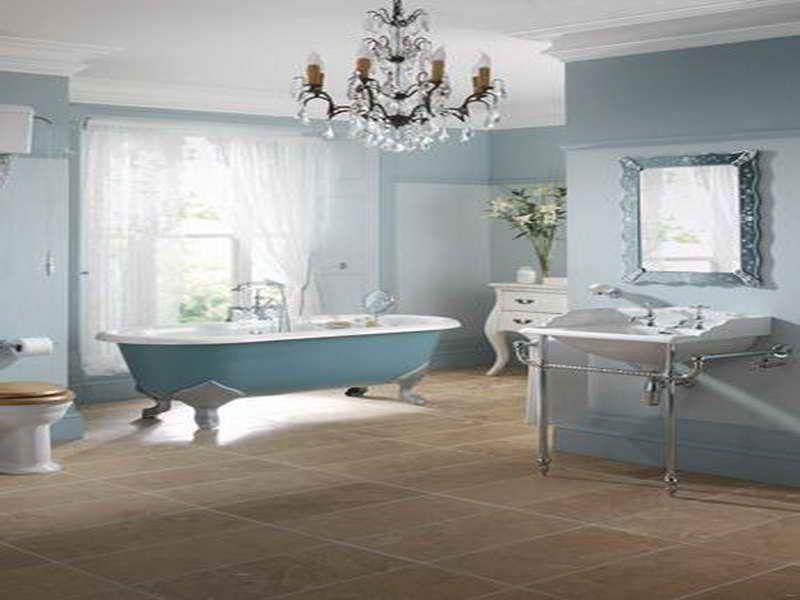 Victorian Bathrooms | Victorian Bathroom Design Ideas With Blue Color