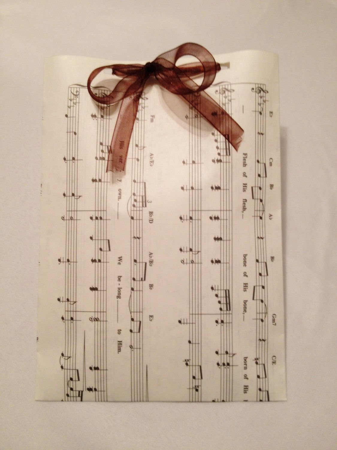 12 Favor Bags Upcycled From A Music Book. $9.44, via Etsy ...