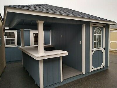 Bar Shed, Back Yard Structure, Hip Roof in 2020 | Bar shed ...