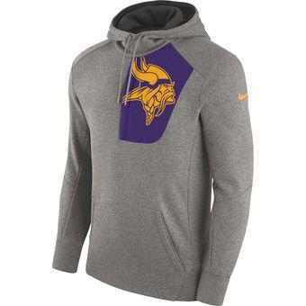 Top Nike Minnesota Vikings Heathered Gray Fly Fleece Pullover Hoodie  free shipping
