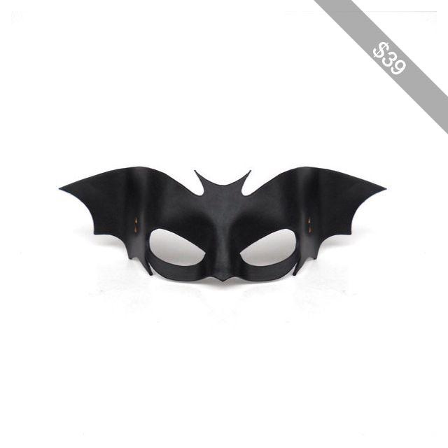 Bat Leather Mask Black Halloween Cosplay Batwoman Batgirl Batman Vampire Super Hero Gothic Comic Sexy Masquerade Carnival Mardi Gras Costume