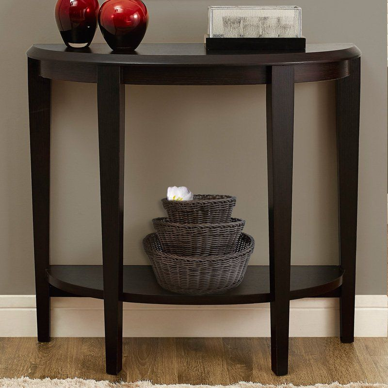 monarch specialties crescent console table | from hayneedle