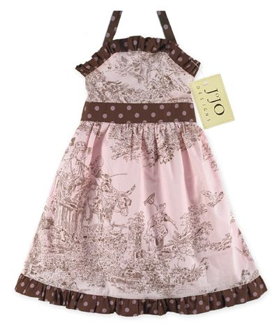 Pink And Brown French Toile Baby Dress By Sweet Jojo Designs Only 14 99 Childrens Clothes