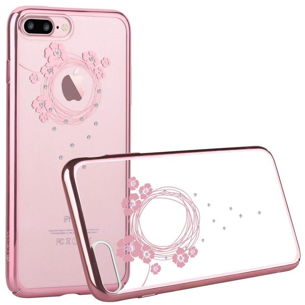 coque iphone 7 fleur rose