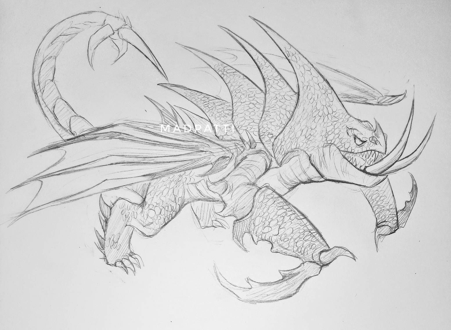 Deathgripper Dragon Sketch