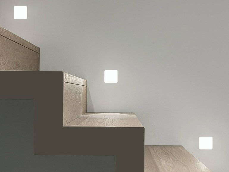 Gypsum recessed segnapasso by linea light group lampade varie