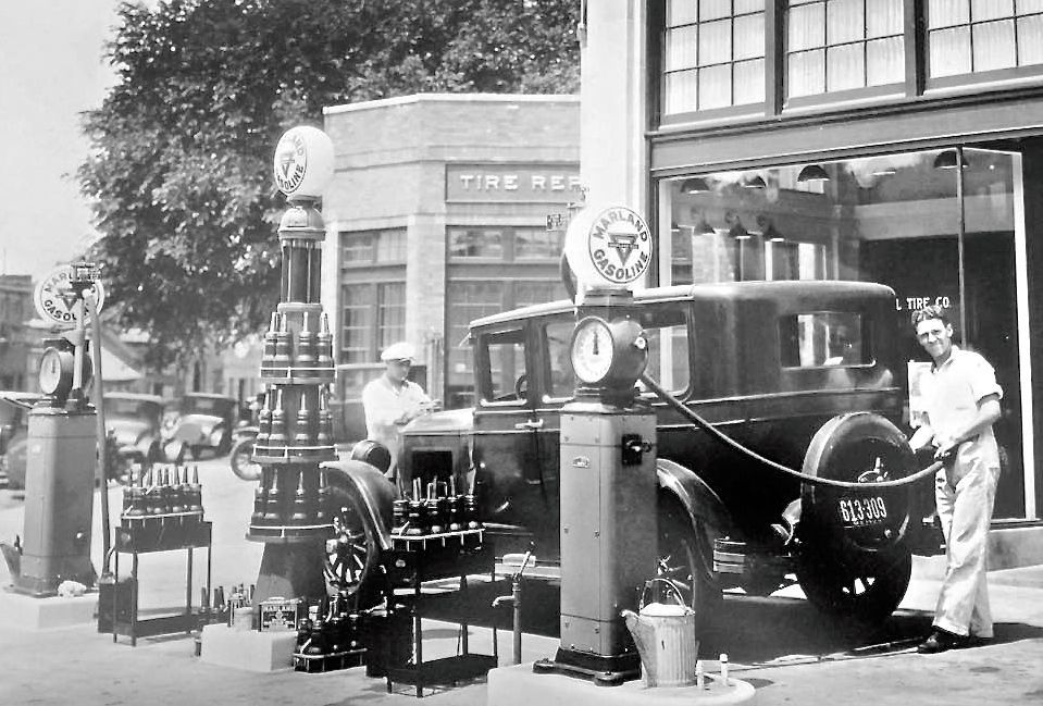Vintage Gas 1920s Gilmore and Marland Filling Stations
