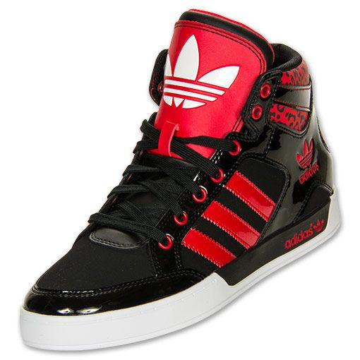 timeless design 32fee 1b129 Women s adidas Originals Hardcourt Hi Casual Shoes   FinishLine.com    Black Vivid Red Animal Print