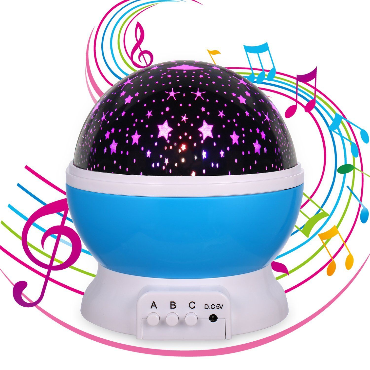 Star Projector Music Toys Lullaby Night Light Gift For Women Or