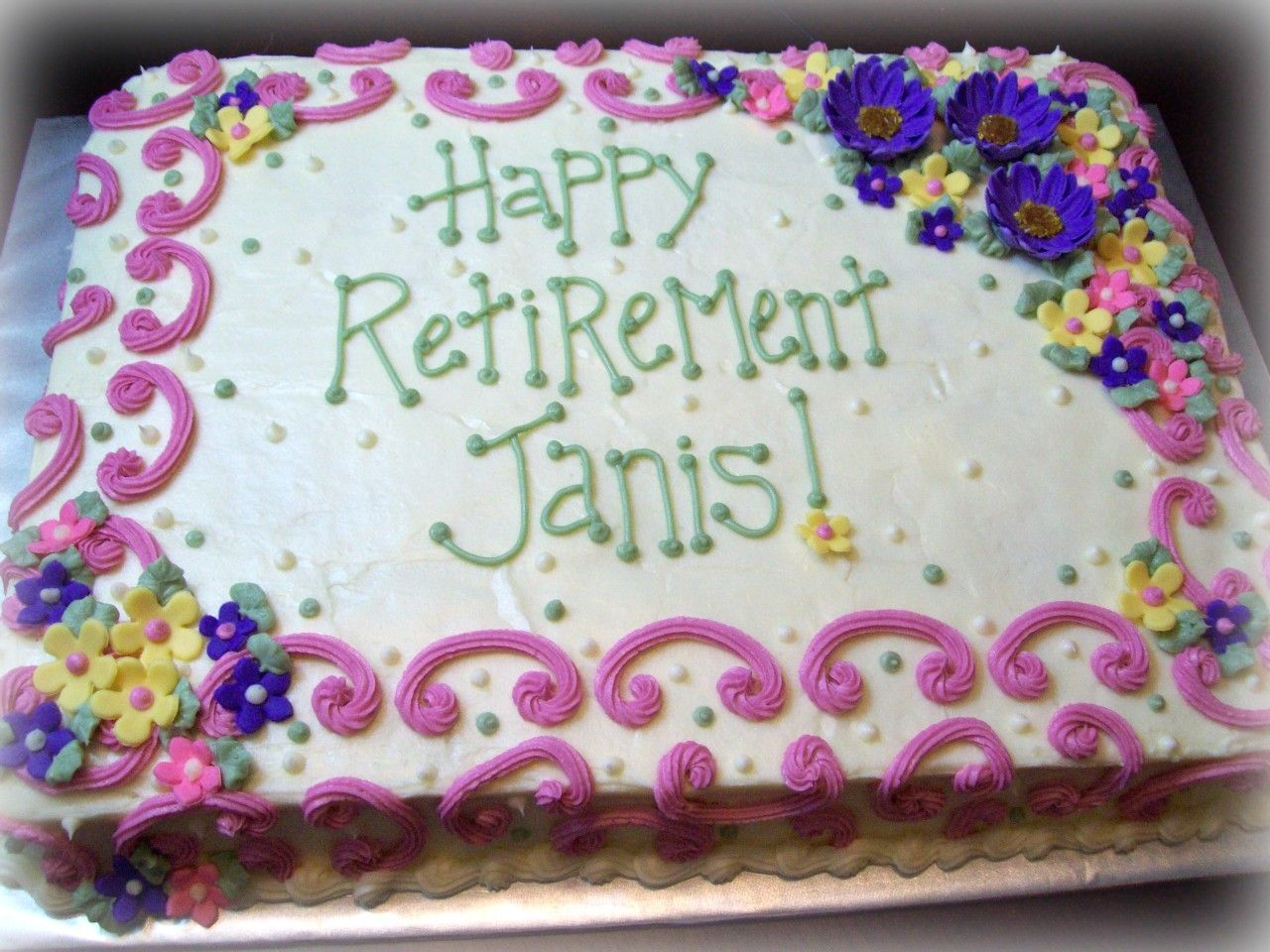 Happy Retirement Cake Designs