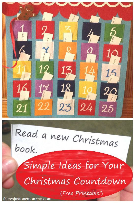 Delightful Countdown To Christmas Craft Ideas Part - 5: Super Simple Ideas For Your Christmas Countdown (Advent Calendar) -- Free  Printable