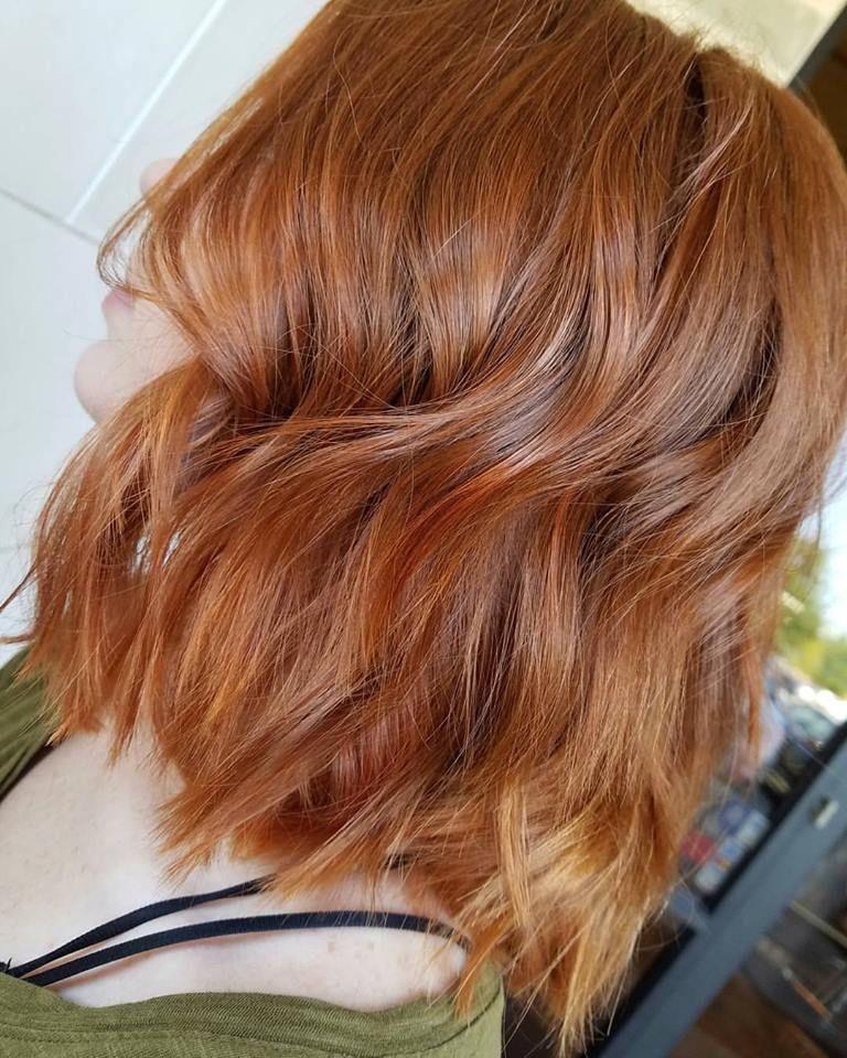 Copper Blunt Bob | Choppy bob hairstyles, Long bob haircuts, Hair styles