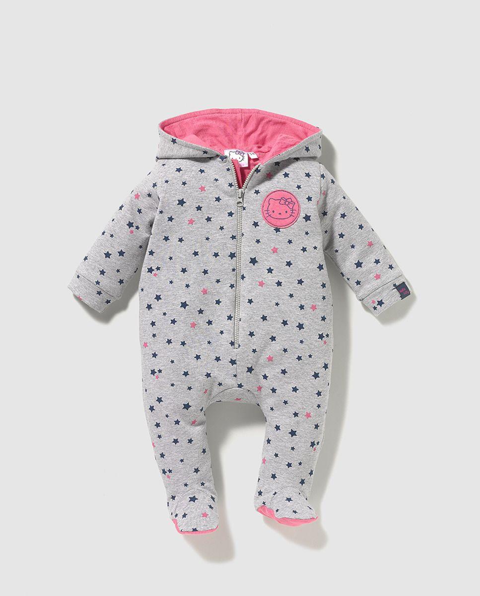 Buzo de bebé niña Personajes en gris de Hello Kitty  f798665477d