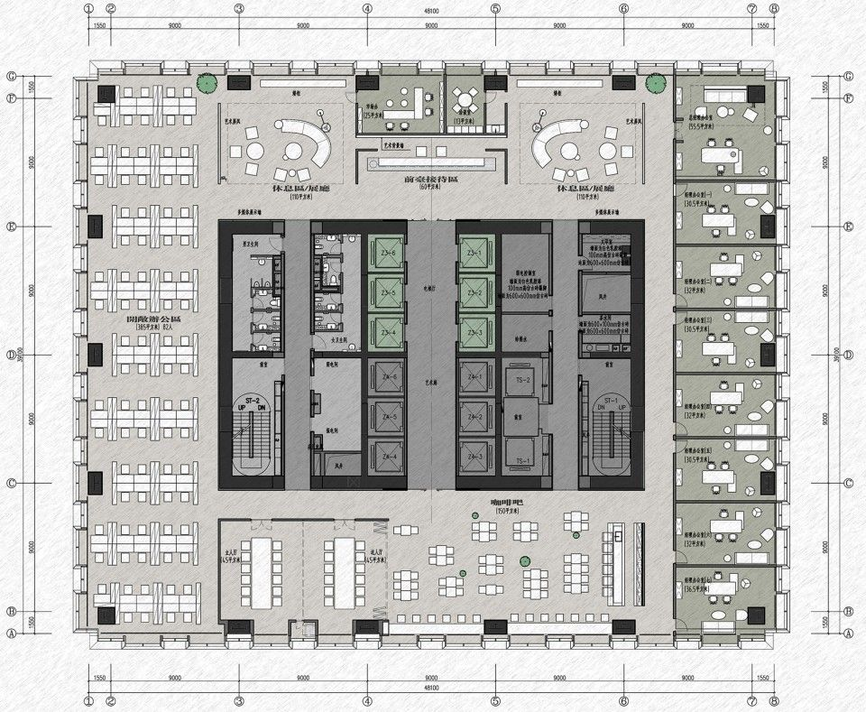 Pin By Ma Tao On 04 Office Layout Office Floor Plan Office Layout Office Building Plans