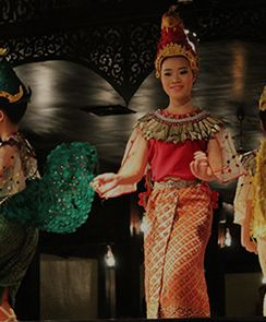 Evening Thai Dinner and Dances - Private Tour-Bangkok, Thailand INR 4707.0 Duraion:  4 hour Activity Details: Enjoy a Thai dinner of 4 to 5 dishes in pleasant surroundings, and watch a beautiful and graceful display of Thai classical dancing.