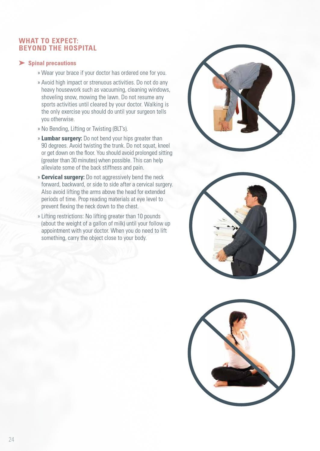 Image result for spinal precautions no bending past