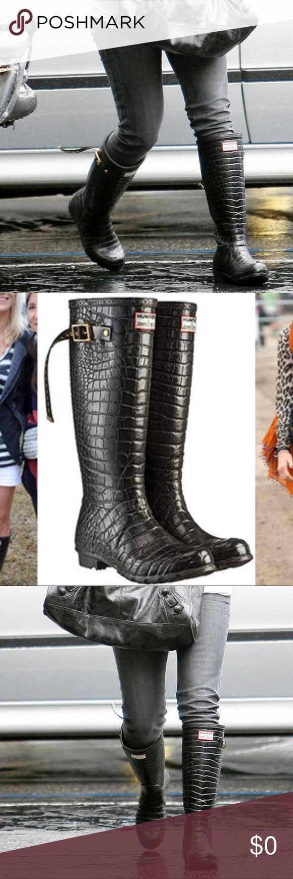 78e6a3518c1 Tall Hunter Croc boots by Jimmy Choo x Hunter Black rubber Jimmy Choo x  Hunter knee-high rain boots! Tall and absolutely gorgeous