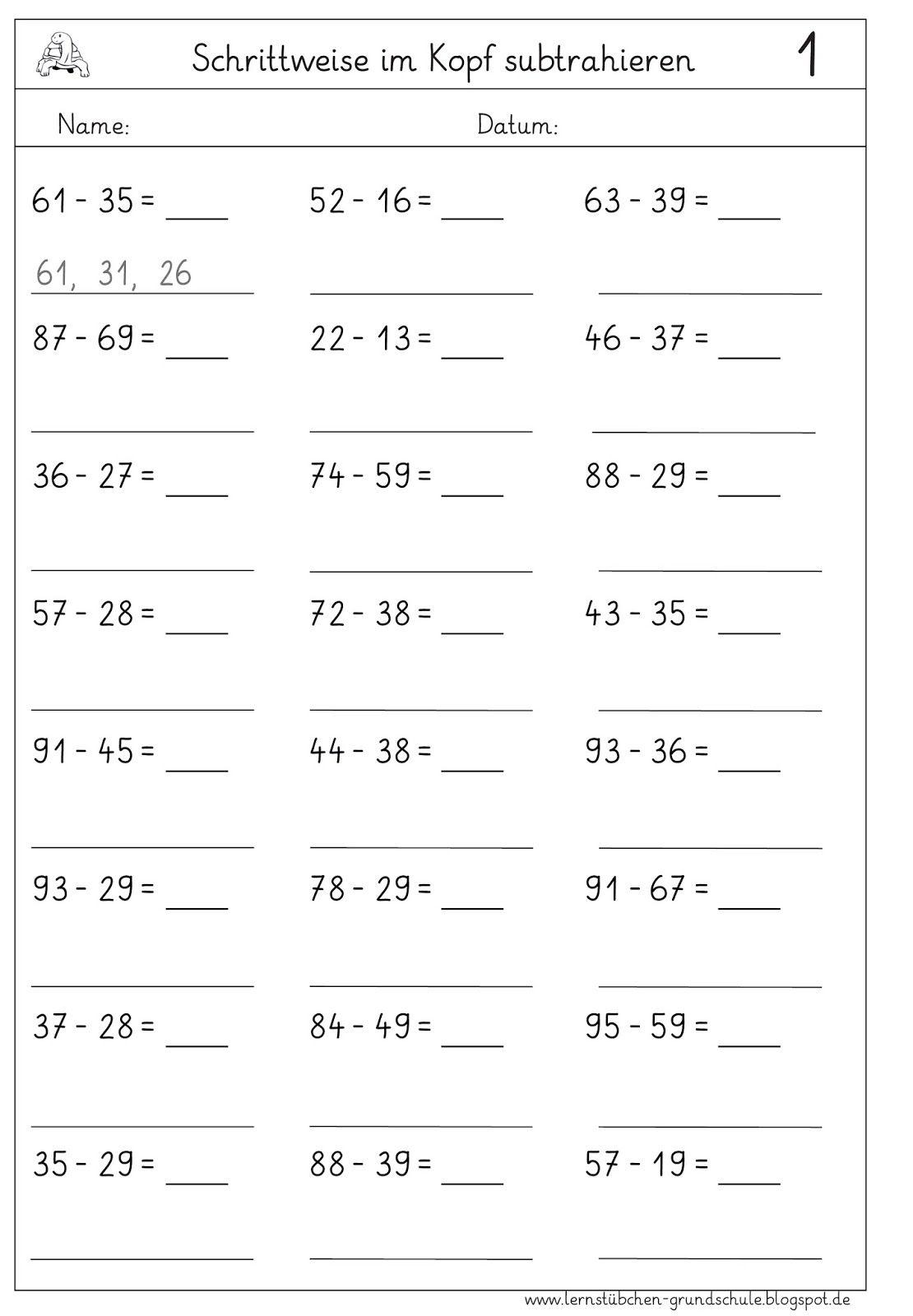 schrittweise+im+Kopf+sub+schwer-1.jpg (1110×1600) | Math | Pinterest ...