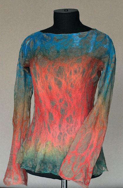 Nuno Felted Long Sleeve by FeltedPleasure, via Flickr
