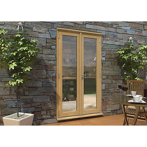 Rohden Pattern 10 Unfinished Oak French Doors 4ft Wickes Co Uk Oak French Doors French Doors Exterior French Doors