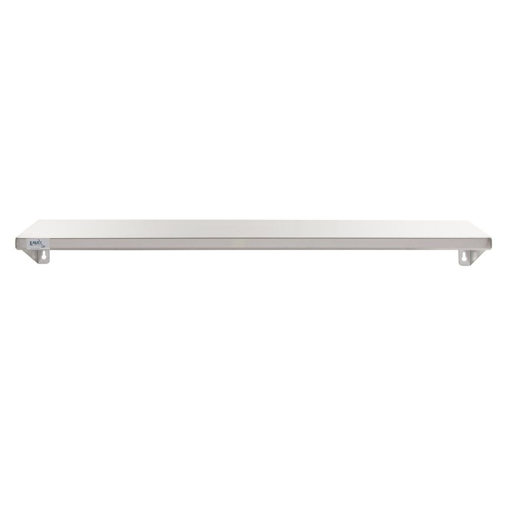 Lavex Janitorial 5 X 48 Stainless Steel Restroom Wall Mount Shelf In 2020 Wall Mounted Shelves Mounted Shelves Shelves