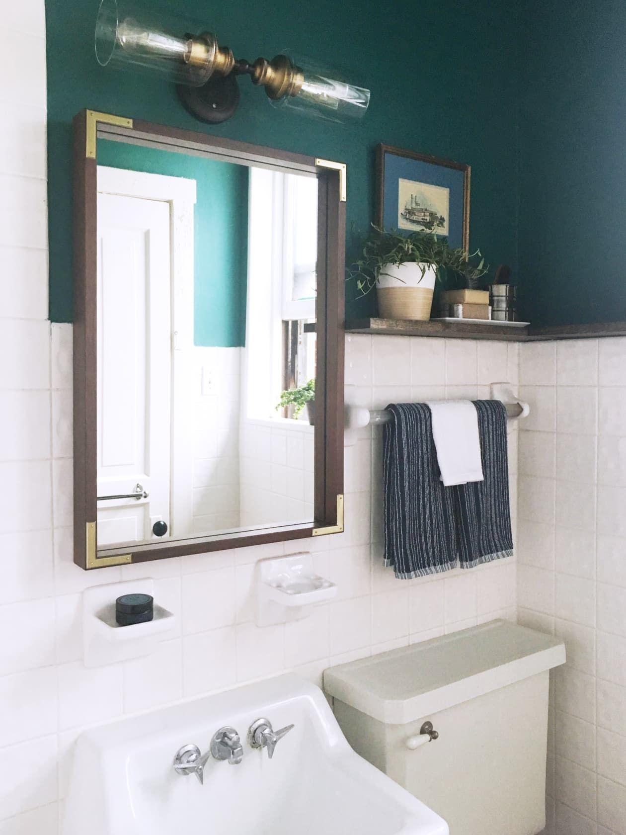 A 100 Reversible Rental Bathroom Makeover For Under 500