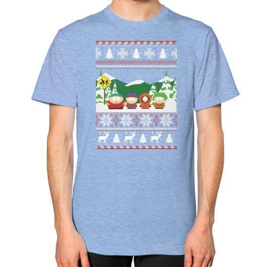 MERY CHRIMAST southpark Unisex T-Shirt (on man)