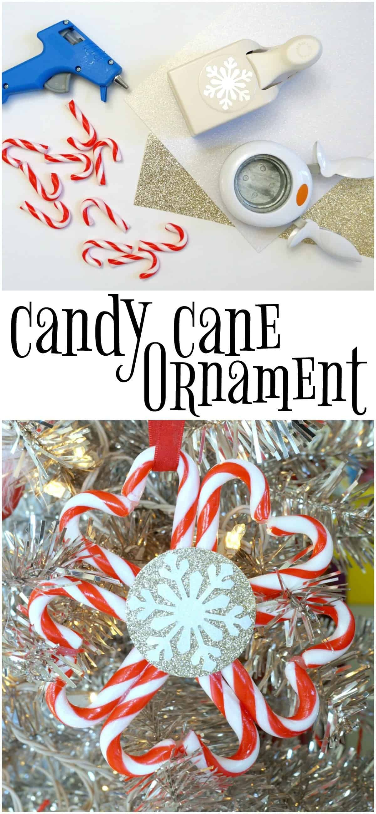 Dollar Store Candy Cane Ornament Candy Cane Ornament Diy