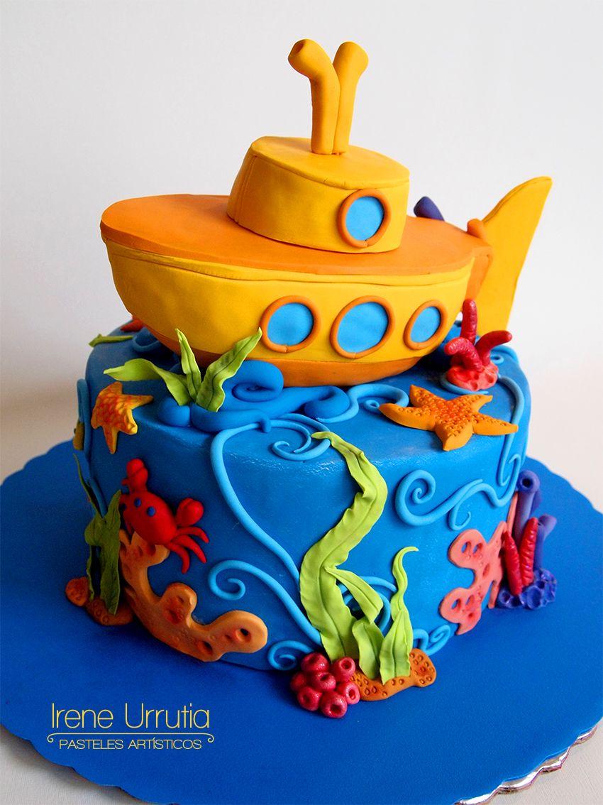 Pastel de submarino Submarine cake Irene Urrutia Pasteles