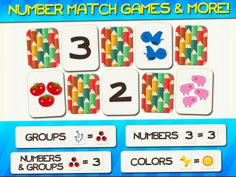 Numbers and Counting Match Games for Kids with Skills - Youtube