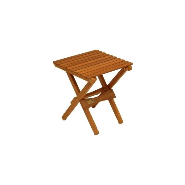Superb Wooden Camping And Patio Outdoor Folding End Table   Natural Finish,  Folding Tables, Byer Of Maine