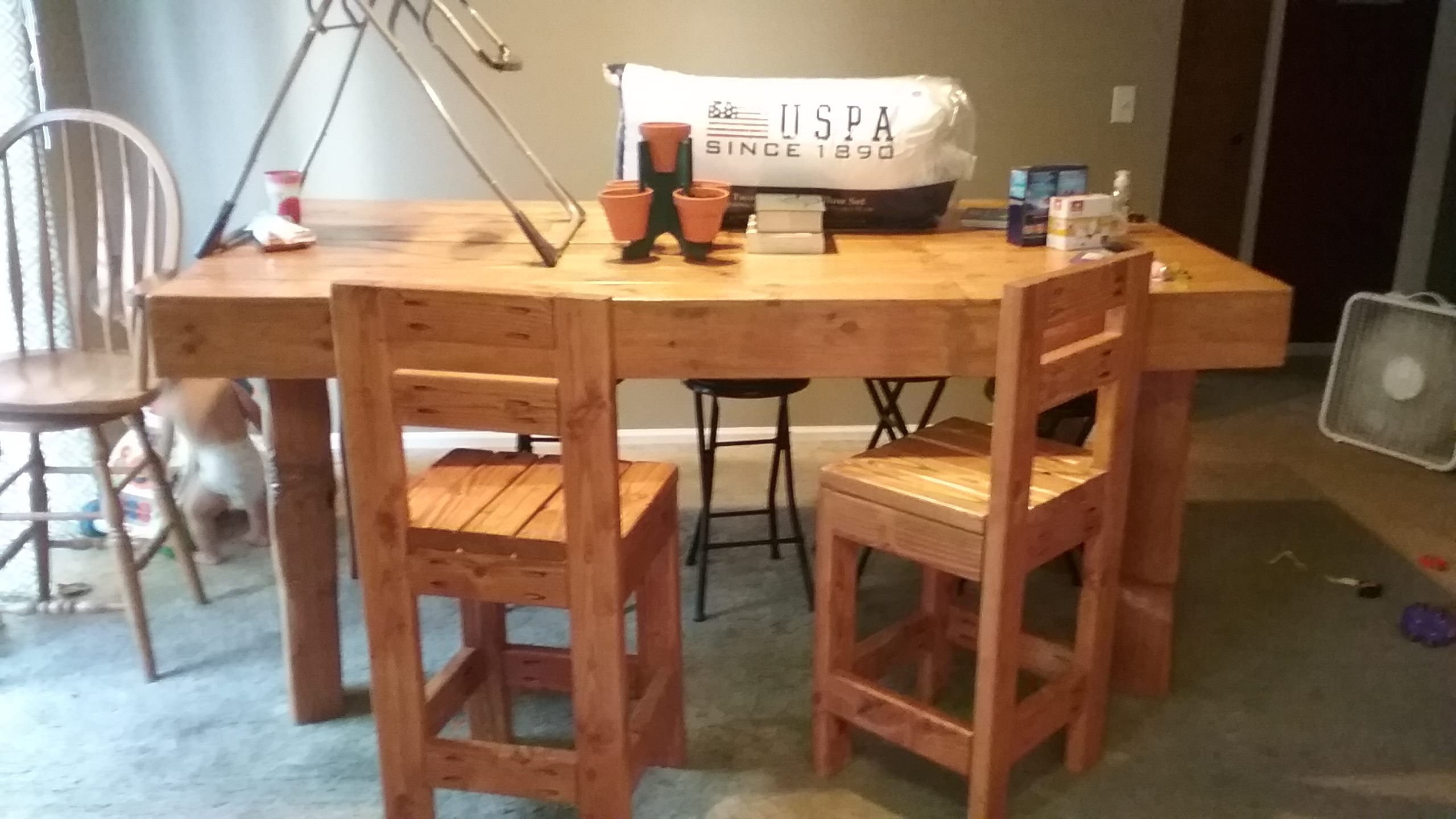 This pallet is the type that is used to deliver steel on i used those large long boards to make this big beautiful pallet kitchen table set
