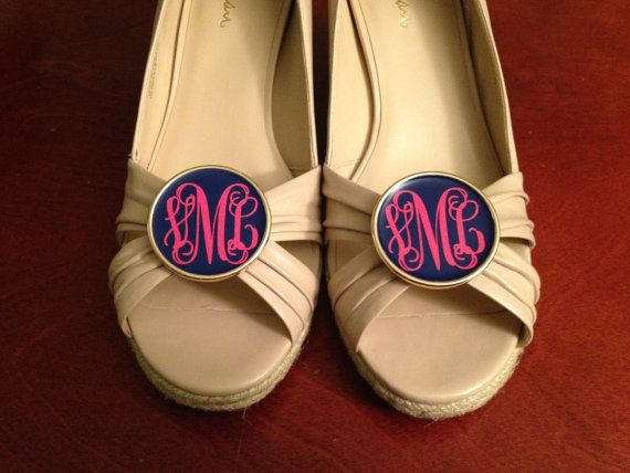Monogrammed Shoe Clips {Giveaway}
