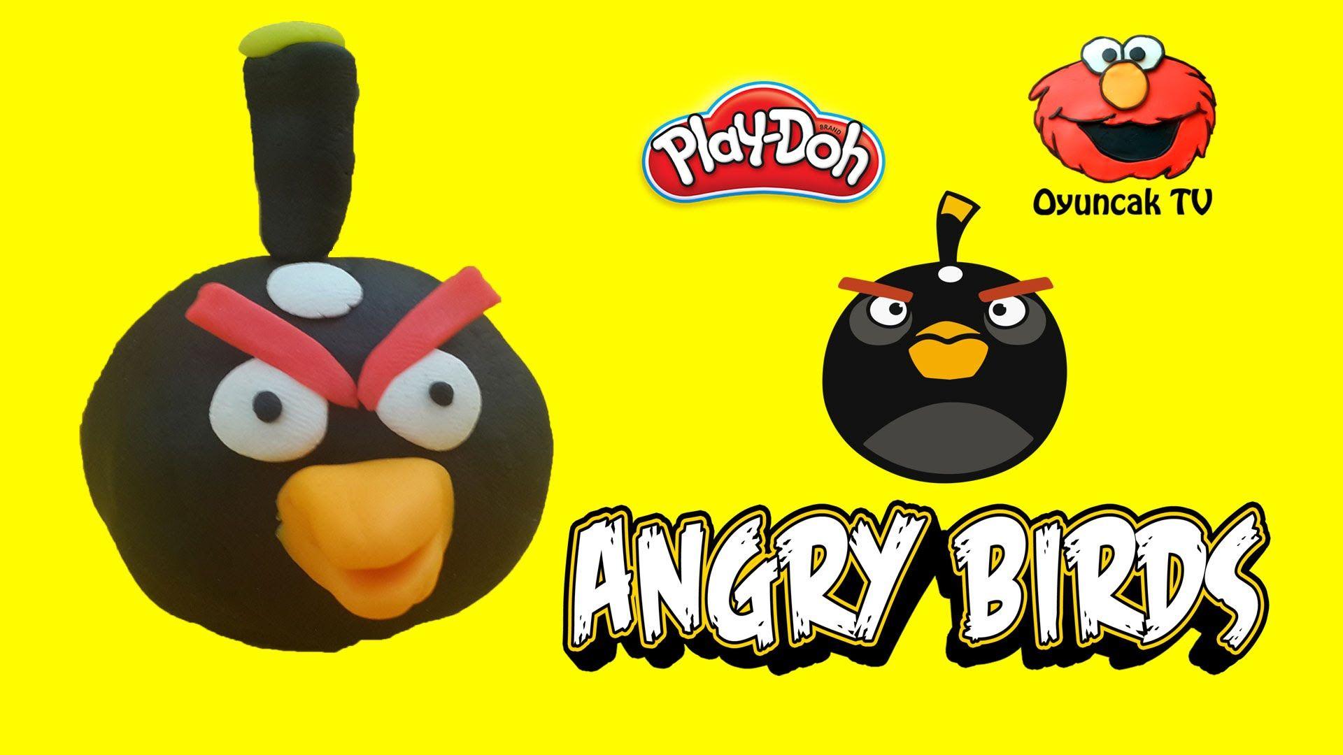 Angry Birds Siyah Kus Bomb Play Doh Oyun Hamuru Ile Yapimi Play Doh Angry Birds Oyun Hamuru