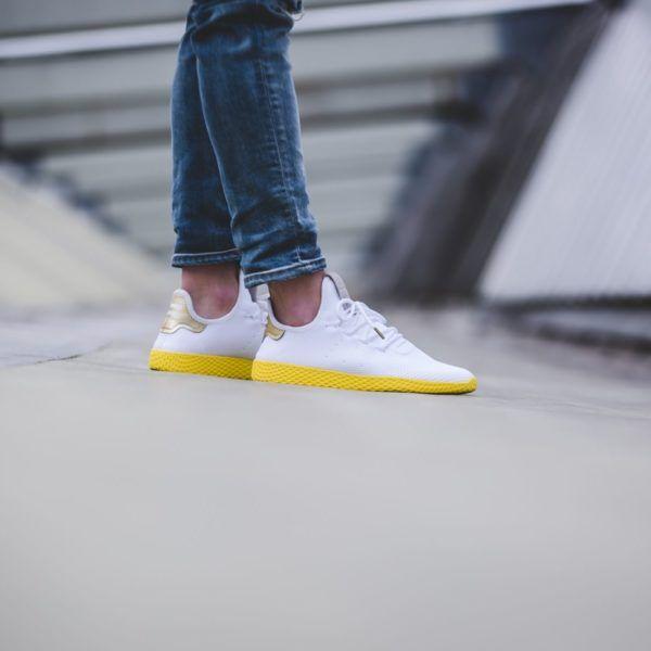 Pharrell Williams x adidas Tennis HU White/Yellow | Pharrell ...