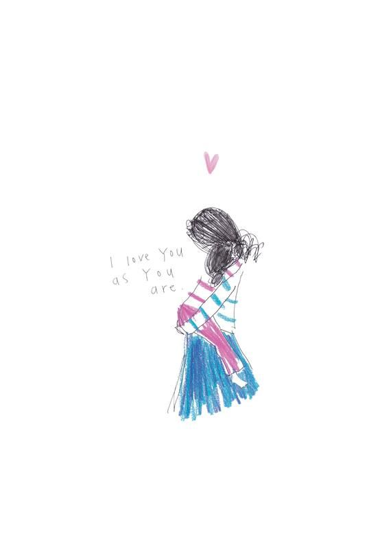 I love you as you are - a print from the 'Sketchy Muma' series by Anna Lewis
