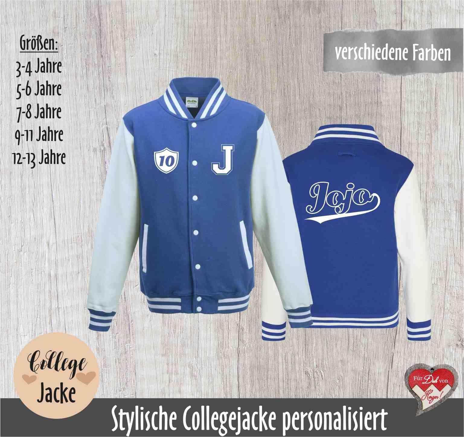 College jacket personalized, name, monogram, year