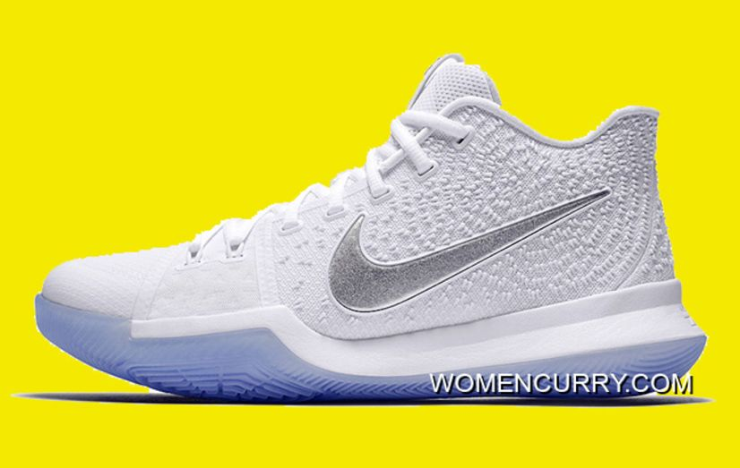 Nike Kyrie 3  White Chrome  852395-103 New Release  e5e44ebd9
